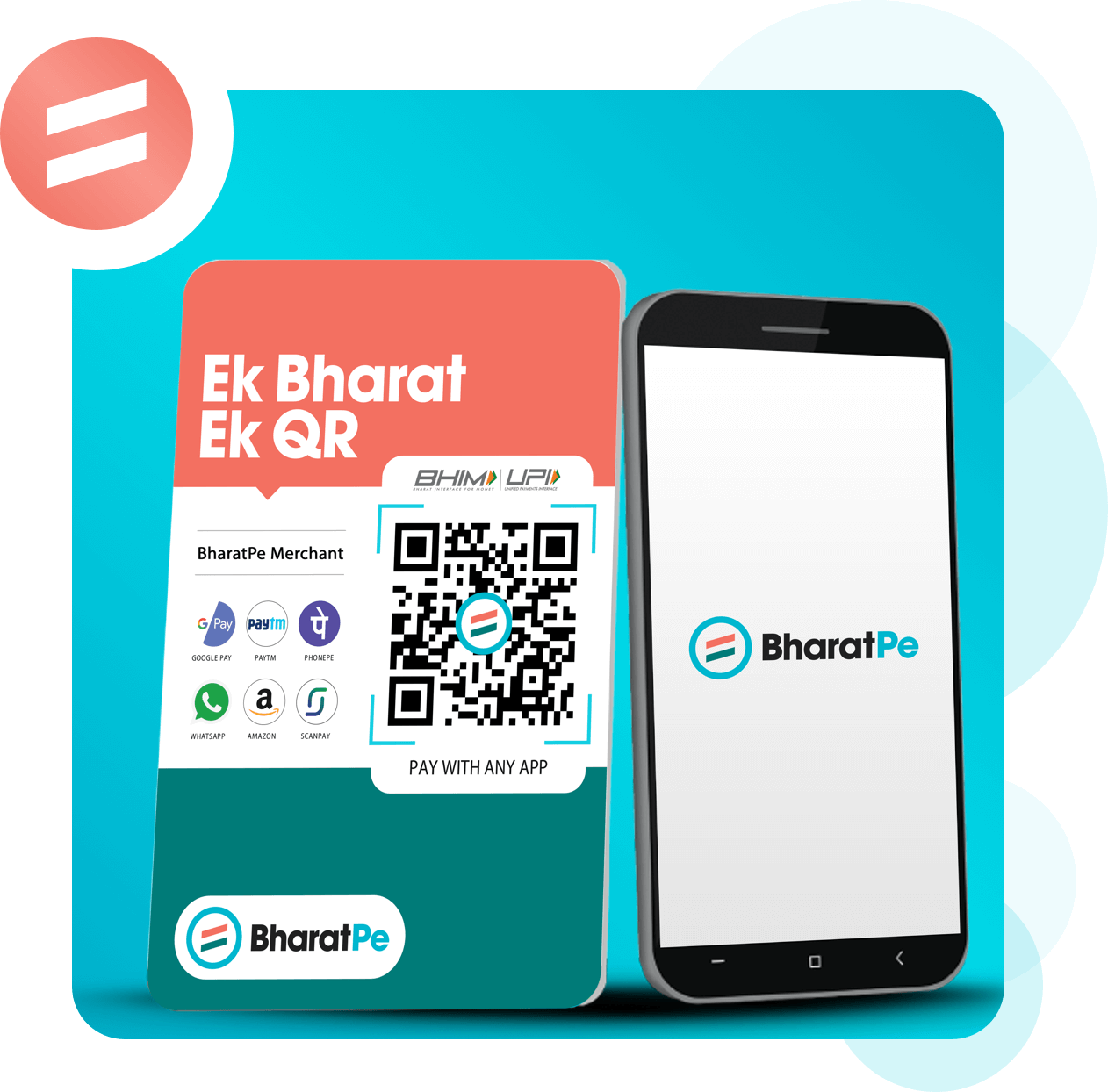 bharatpe | one qr code for all payment apps | zero charges |no limit